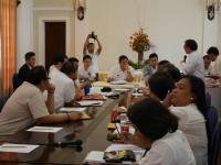A meeting with Cebu Province officials